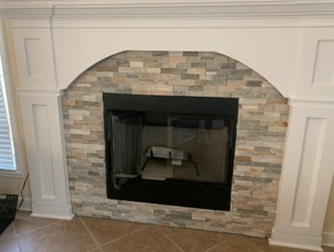 Brick Fireplace Rebuild finish